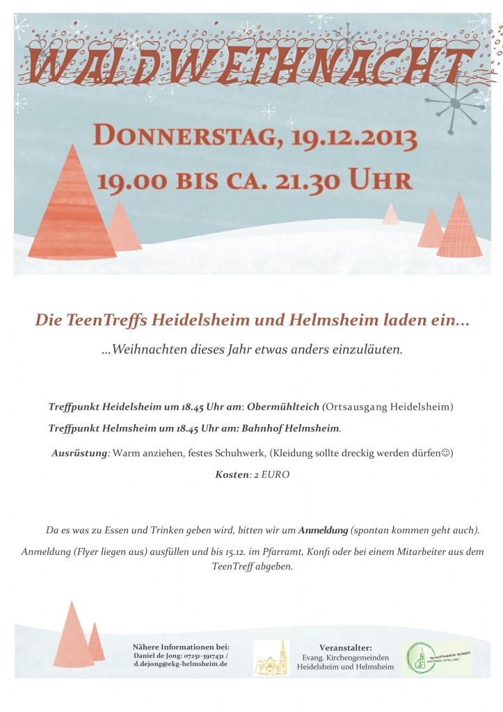 Waldweihnacht-Flyer