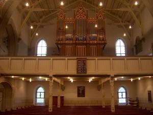 Stadtkirche Orgel mit Empore
