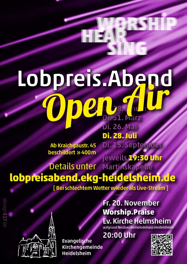 Flyer Lobpreis.Abend open air am 28. Juli 2020